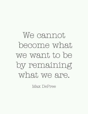 Become who we want to be