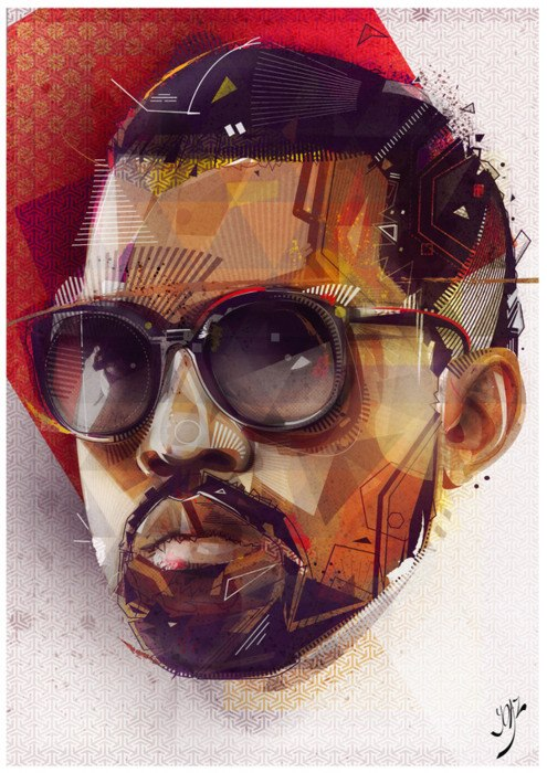 YoAz original rendition of cultural icon, Kanye West.